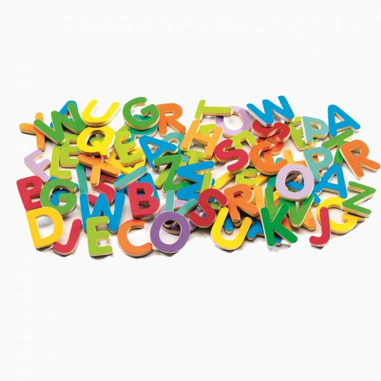 Box Of 83 Magnetic Upper Case Letters By Djeco 4+