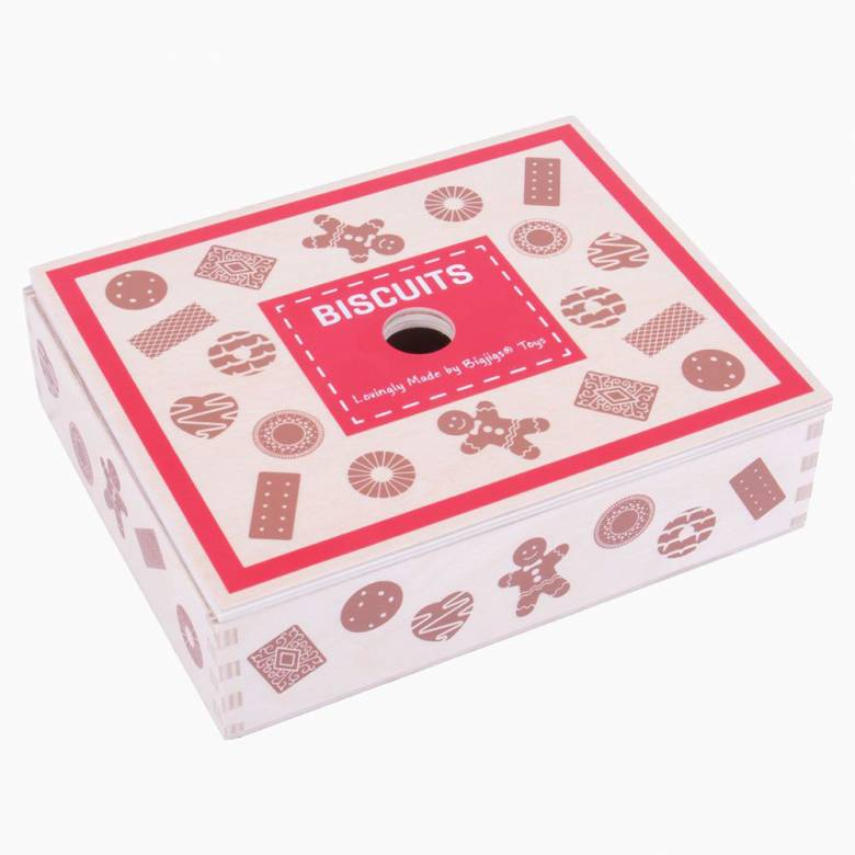 Wooden Box Of Biscuits 3+