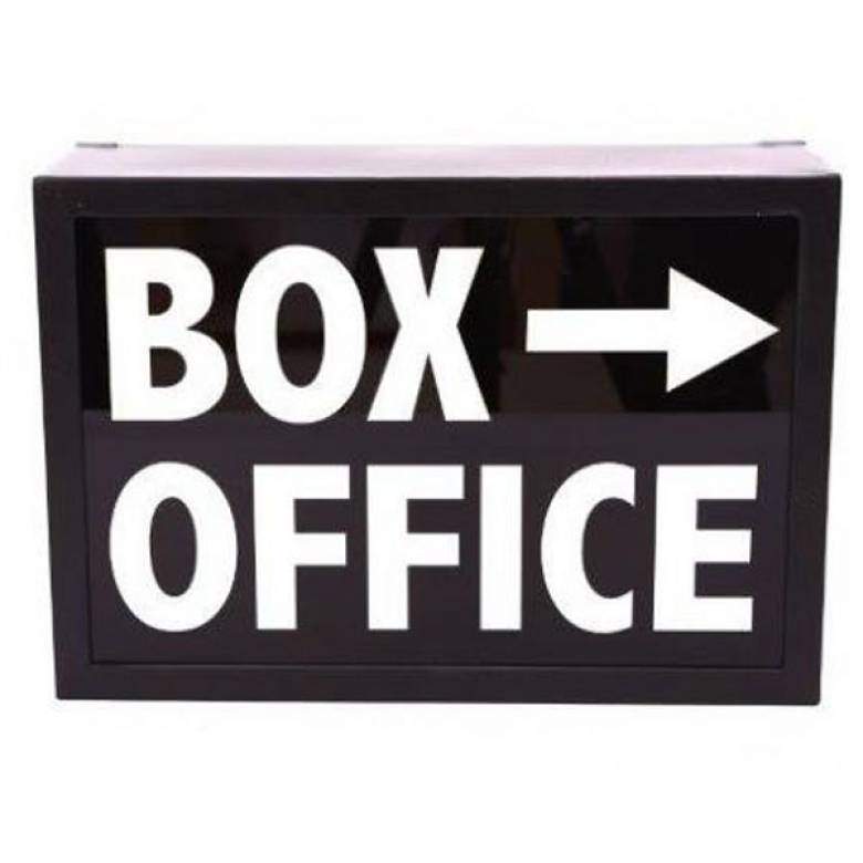 Box Office Illuminated Sign Wall Mount Box Sign