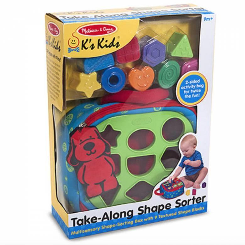 Take-Along Shape Sorter Baby & Toddler Toy 9m+