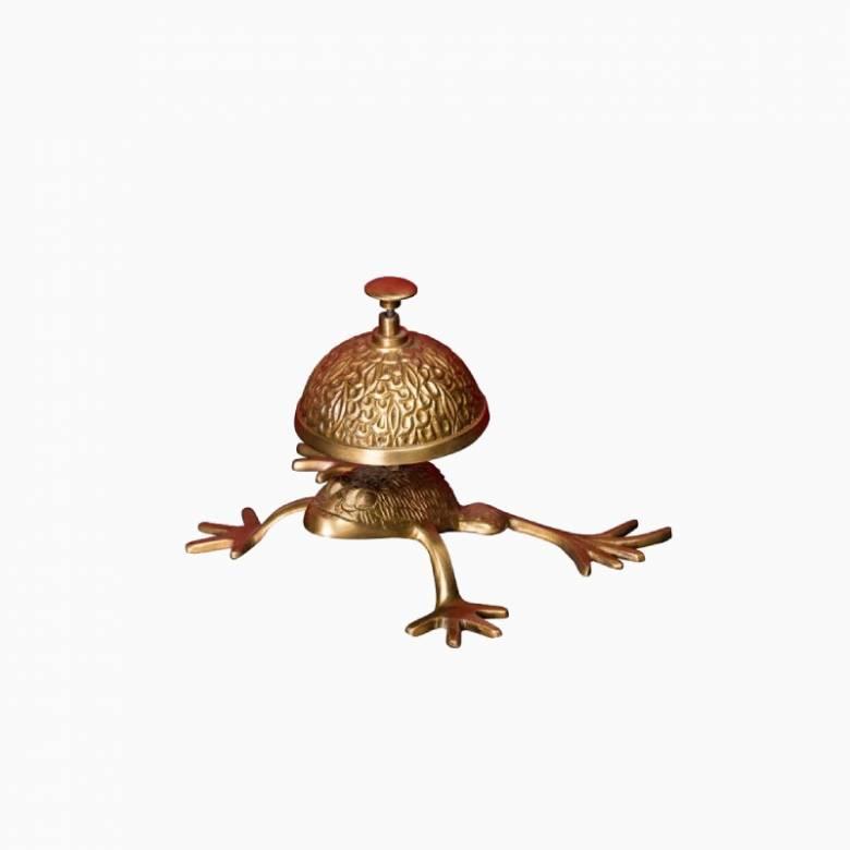 Brass Frog Desktop Bell