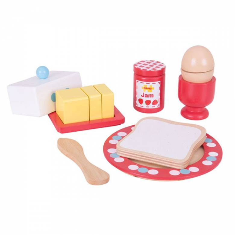 Breakfast Time Wooden Food Play Set 3+