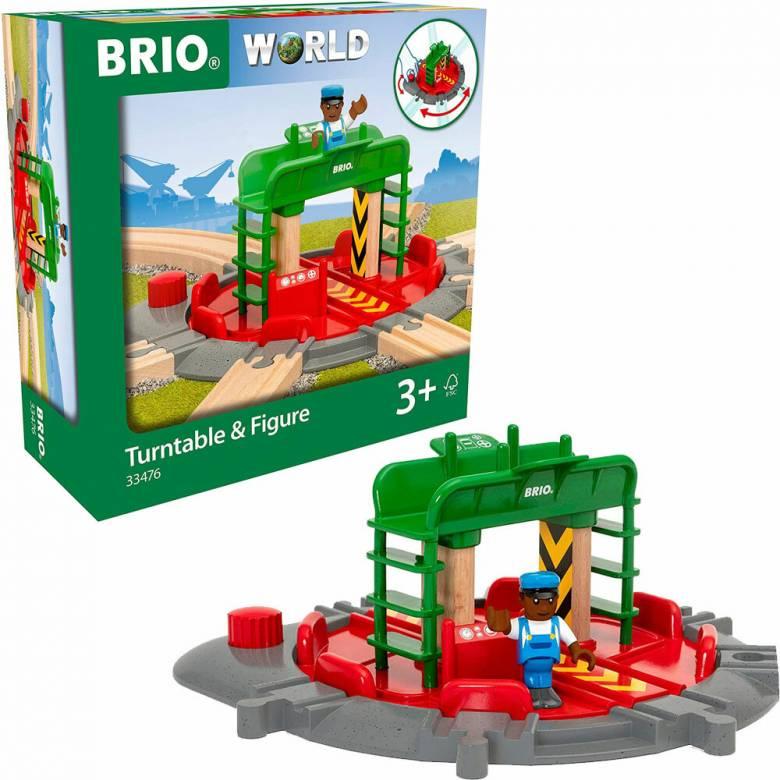 Turntable & Figure BRIO Wooden Railway Age 3+
