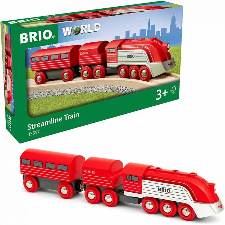 Streamline Train BRIO Wooden Railway Age 3+