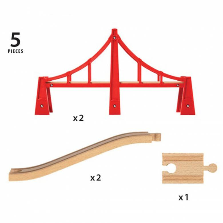 Double Suspension Bridge BRIO® Wooden Railway Age 3+