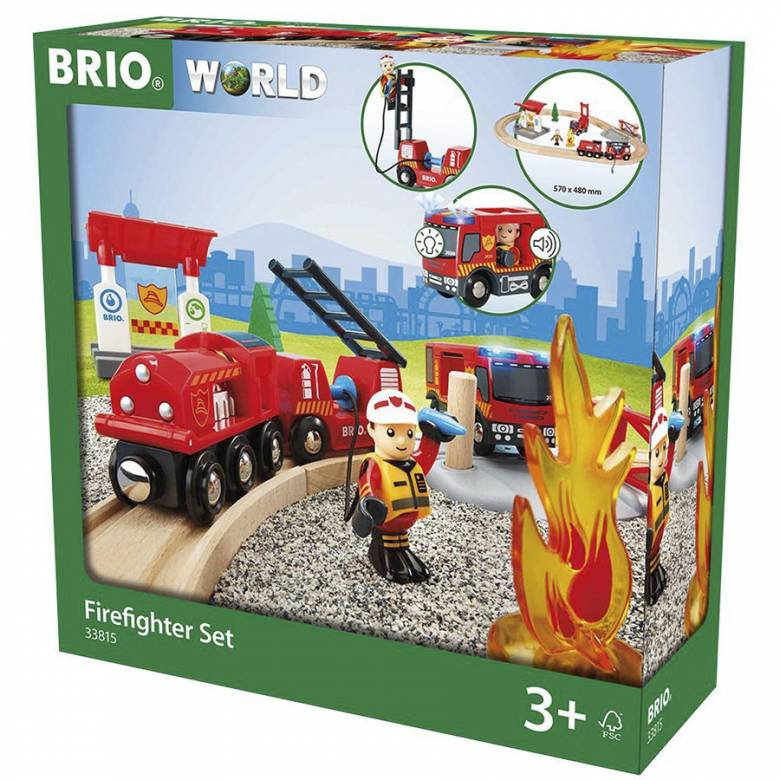 Firefighter Set BRIO® Wooden Railway Age 3+