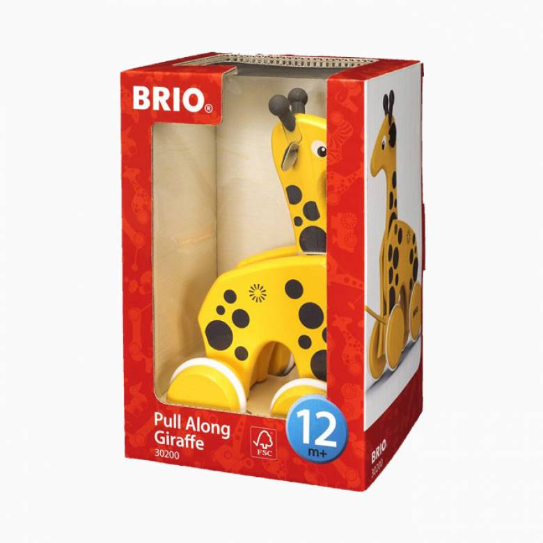 Pull Along Giraffe Toy By BRIO 1+