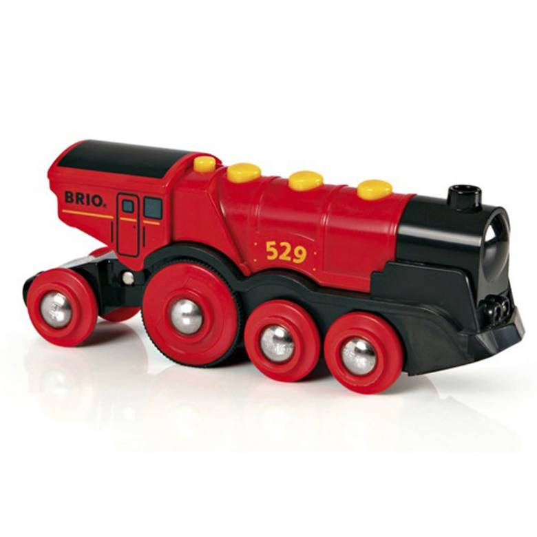 Mighty Red Action Locomotive Train BRIO Wooden Railway Age 3+
