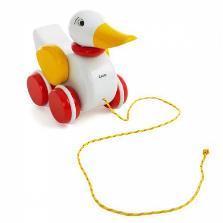 BRIO® Pull Along DUCK (White) 12mth+