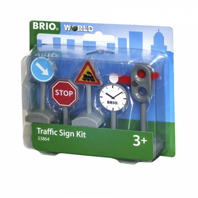 Traffic Sign Kit BRIO® Wooden Railway Age 3+