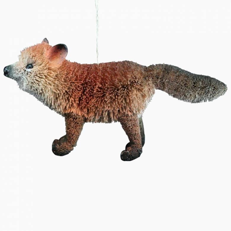 Bristle Fox Christmas Decoration