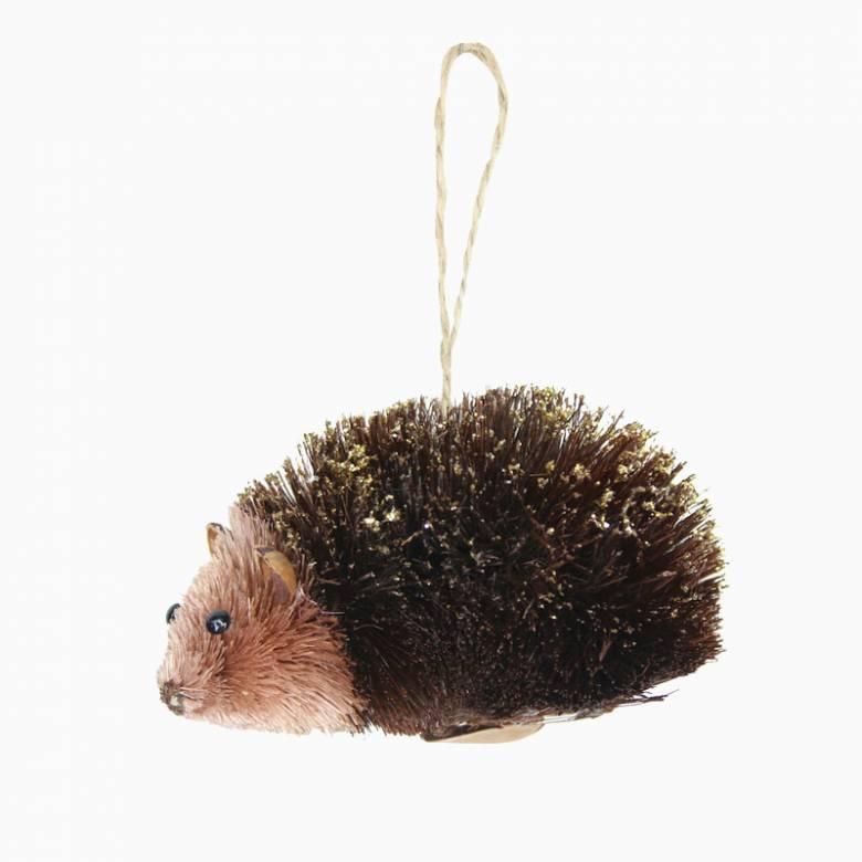 Bristle Hedgehog Christmas Decoration By Gisela Graham