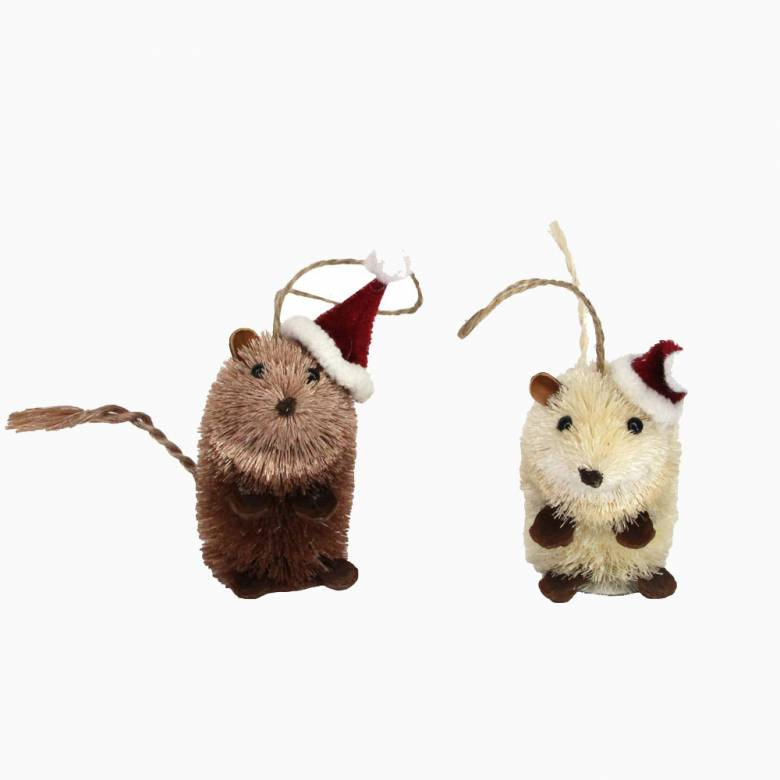 Bristle Mouse Christmas Decoration By Gisela Graham