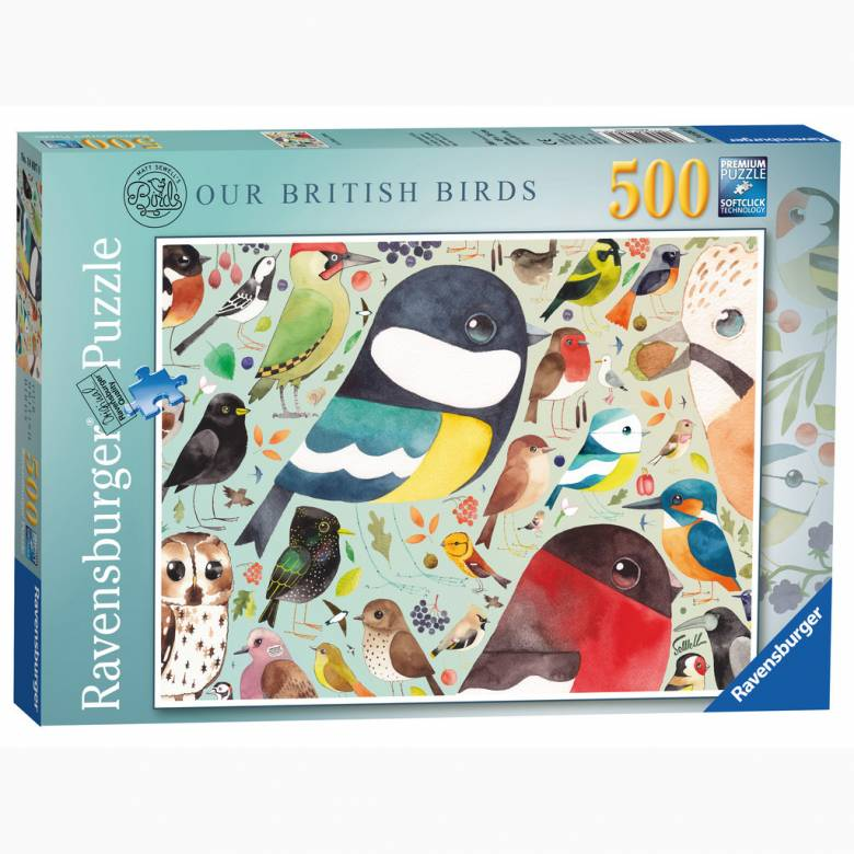 Matt Sewell's Our British Birds Jigsaw Puzzle  500pc Ages 9+