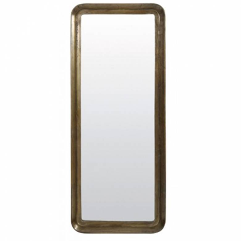 Giant Deep Frame Antiqued Bronze Mirror  61x11x148cm