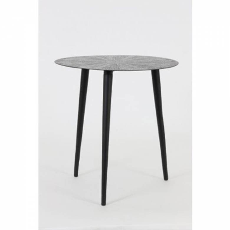 RAY Round Metal Side Table In Antique bronze 45cmx47cm