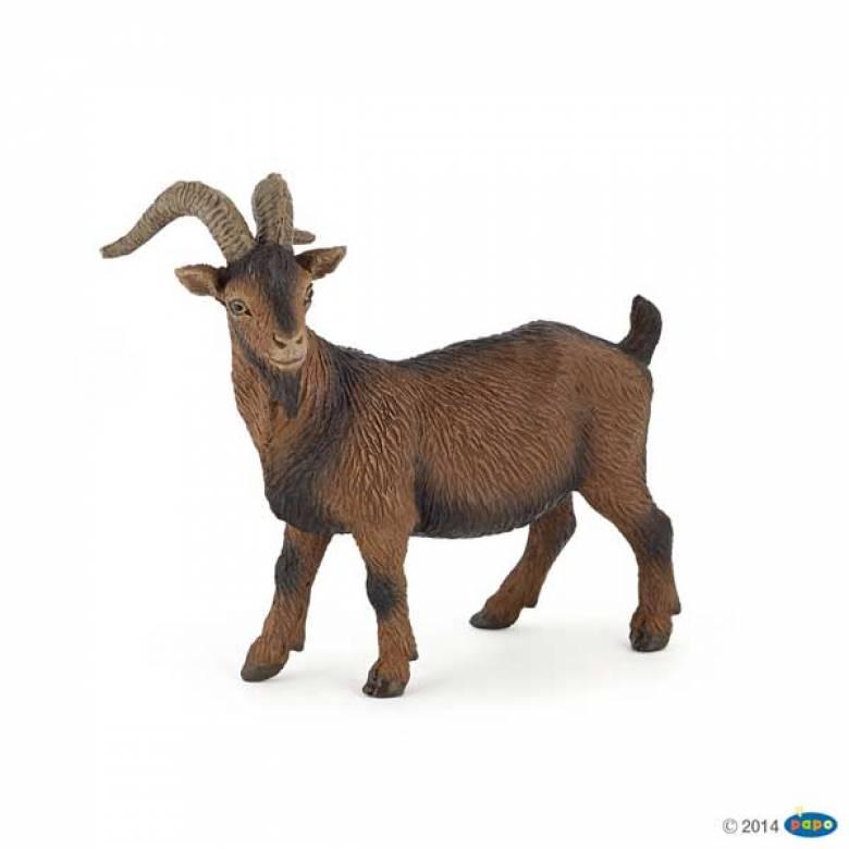 Brown Billy Goat PAPO FARM ANIMAL