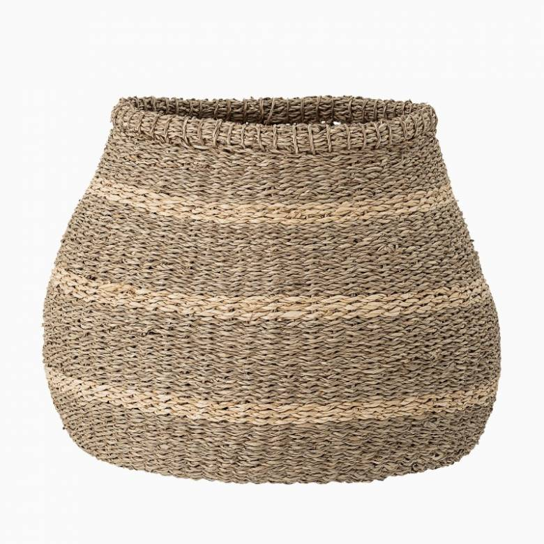 Bulbous Striped Seagrass Basket