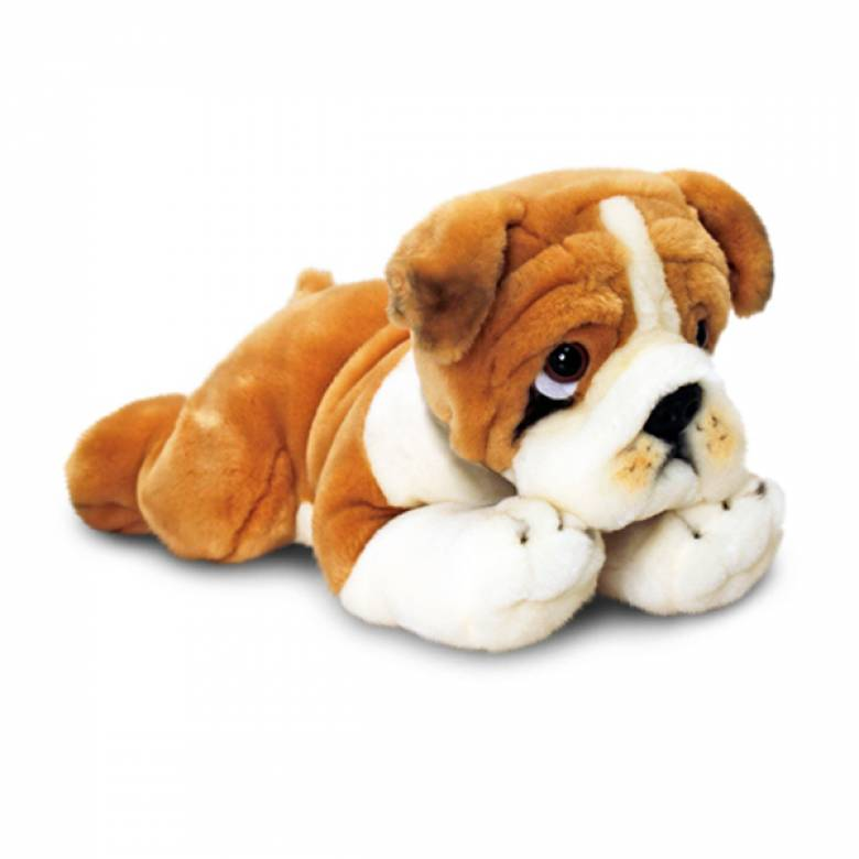 Laying Bulldog Soft Toy 30cm