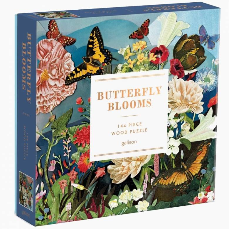 Butterfly Blooms - 144 Piece Jigsaw Puzzle