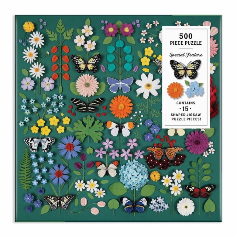 Butterfly Botanica - 500 Piece Jigsaw Puzzle