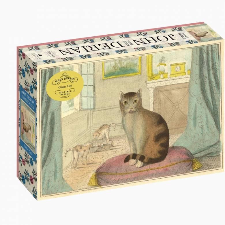 Calm Cat By John Derian 750 Piece Jigsaw Puzzle