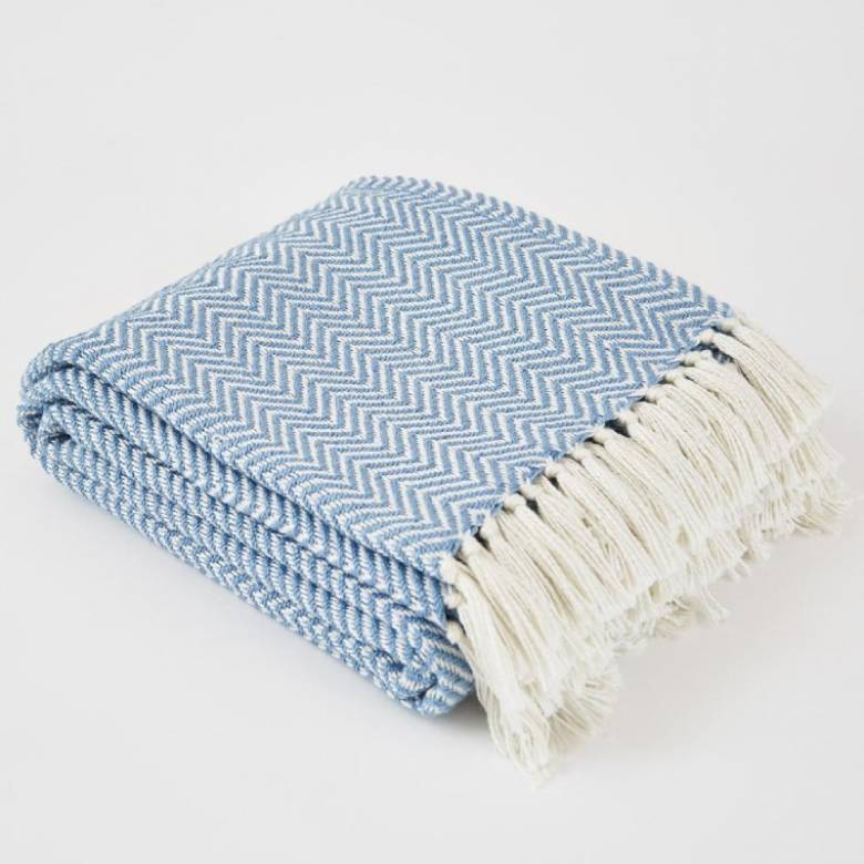 Capri Herringbone Blanket - Made From Recycled Plastic Bottles