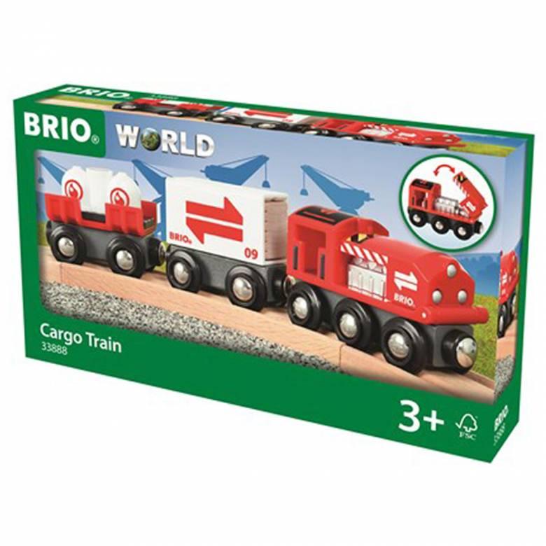 Cargo Train BRIO Wooden Railway Age 3+