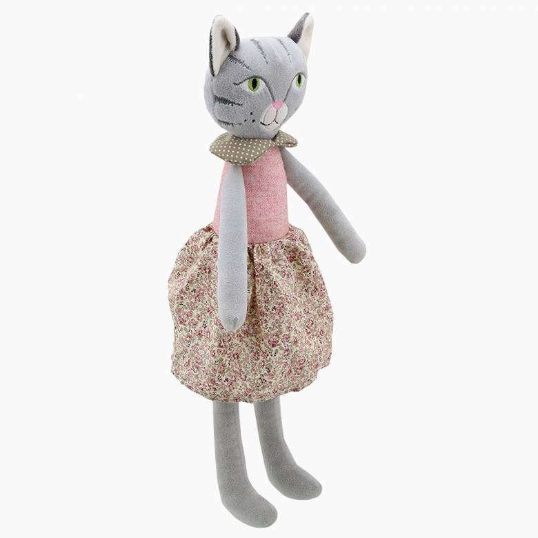 Girl Cat - Wilberry Friends Soft Toy 0+