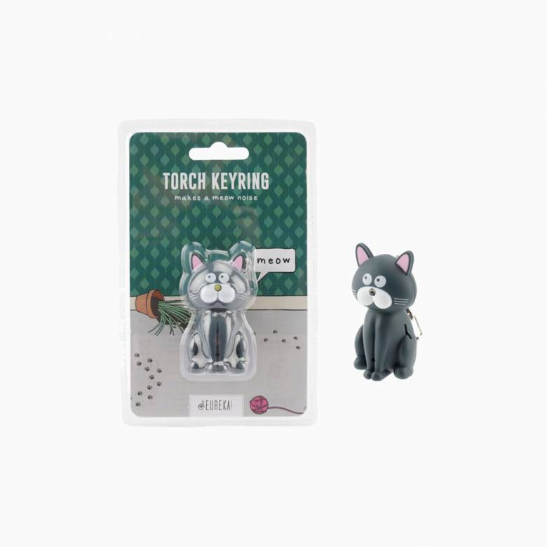 Cat Keyring With Torch And Sound