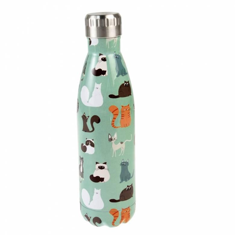 Cat Print Stainless Steel Bottle