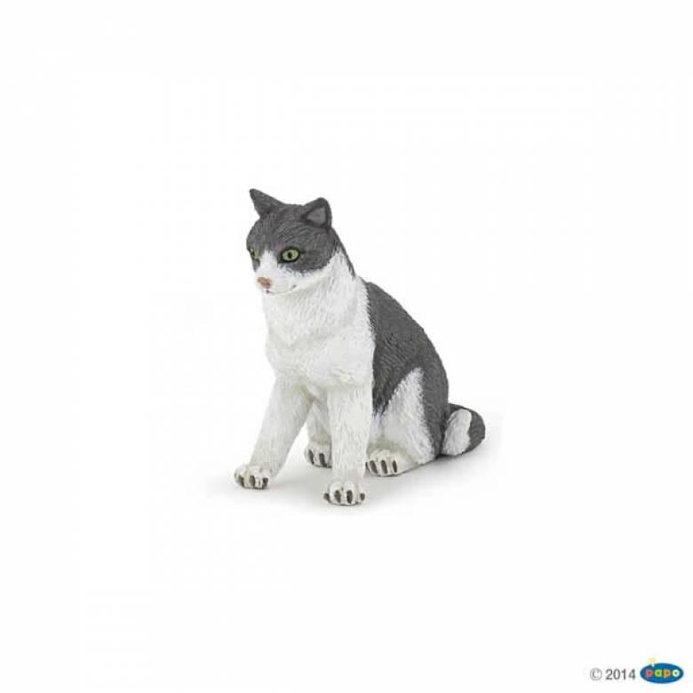Cat Sitting Down - Papo Farm Animal Figure
