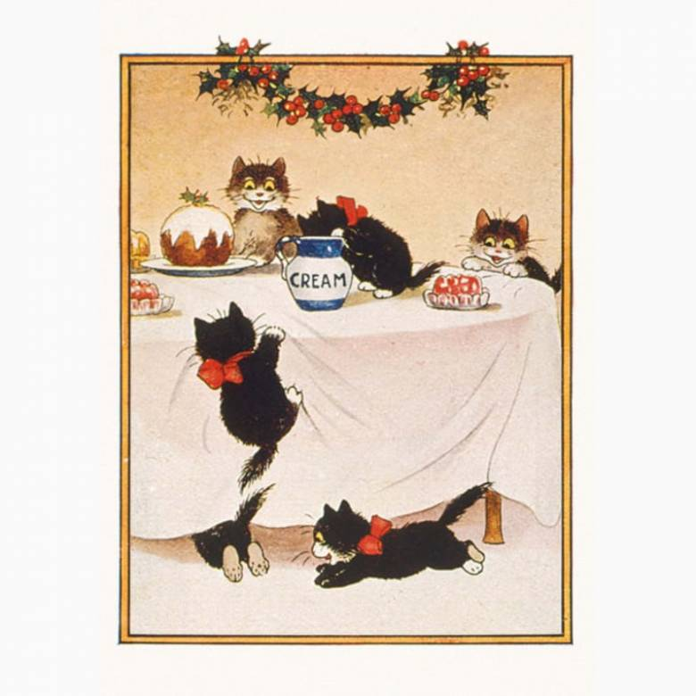 Cats Christmas - Pack Of 8 Christmas Cards By Museums & Gallerie