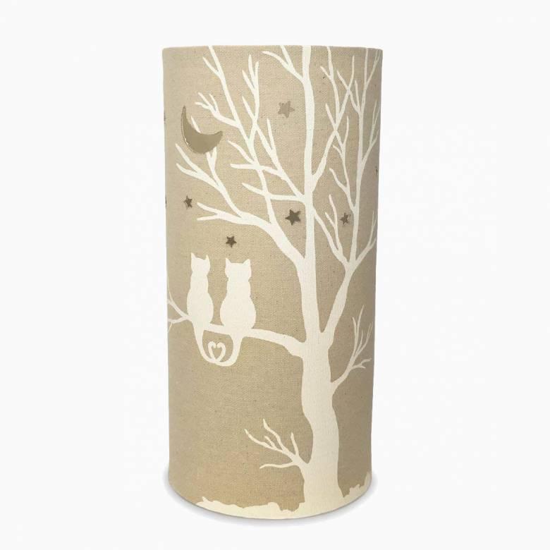 Cat Love - Cylindrical Fabric Lamp