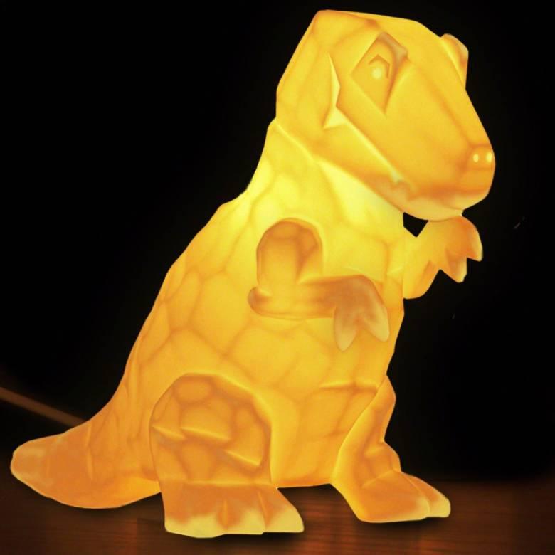 Ceramic T-Rex Dinosaur Lamp