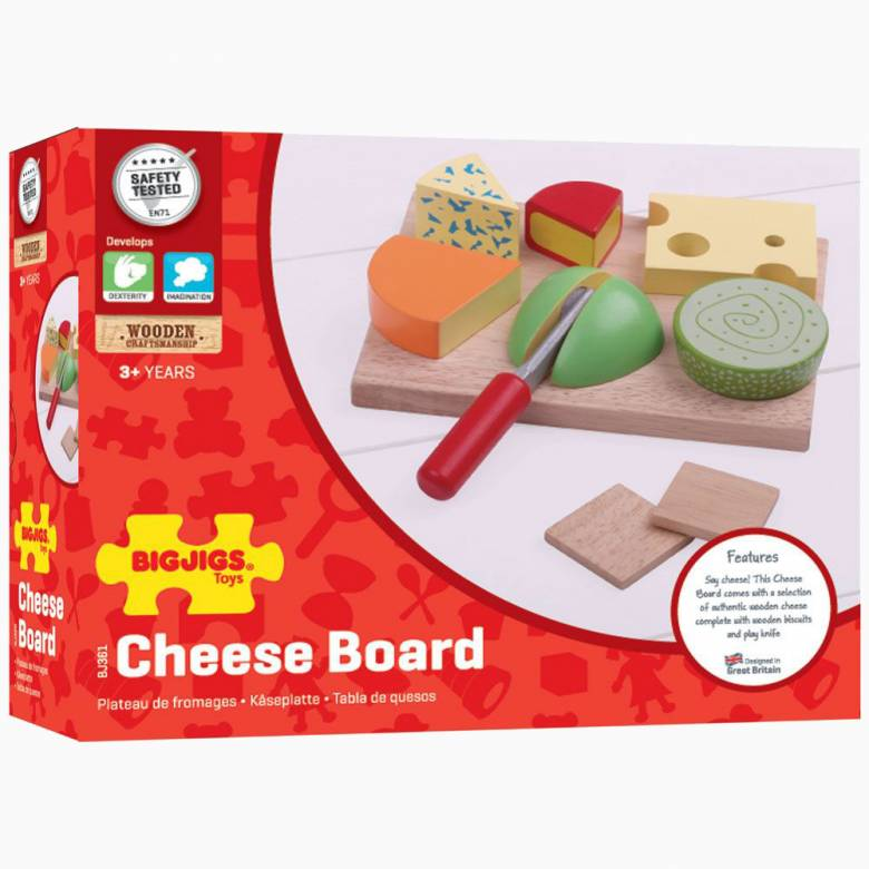 Wooden Cheeseboard Set Play Food 3+