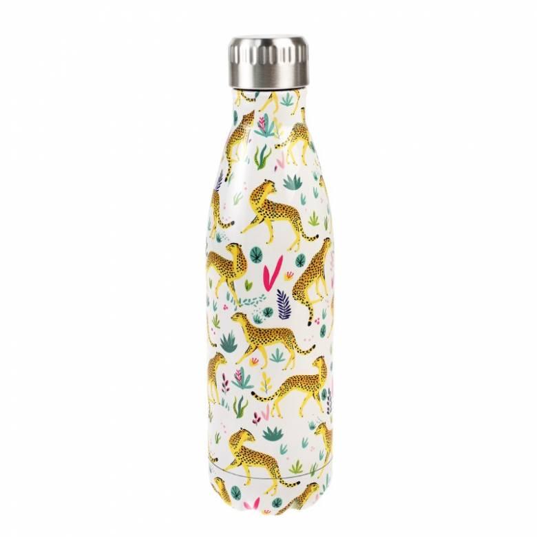 Cheetah Print Stainless Steel Water Bottle