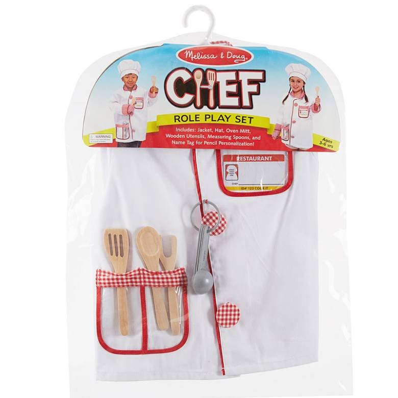 Chef Fancy Dress Role Play Costume Set
