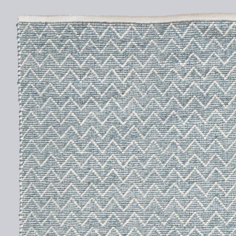 Chenille Teal 110 x 60cm Recycled Bottle Rug