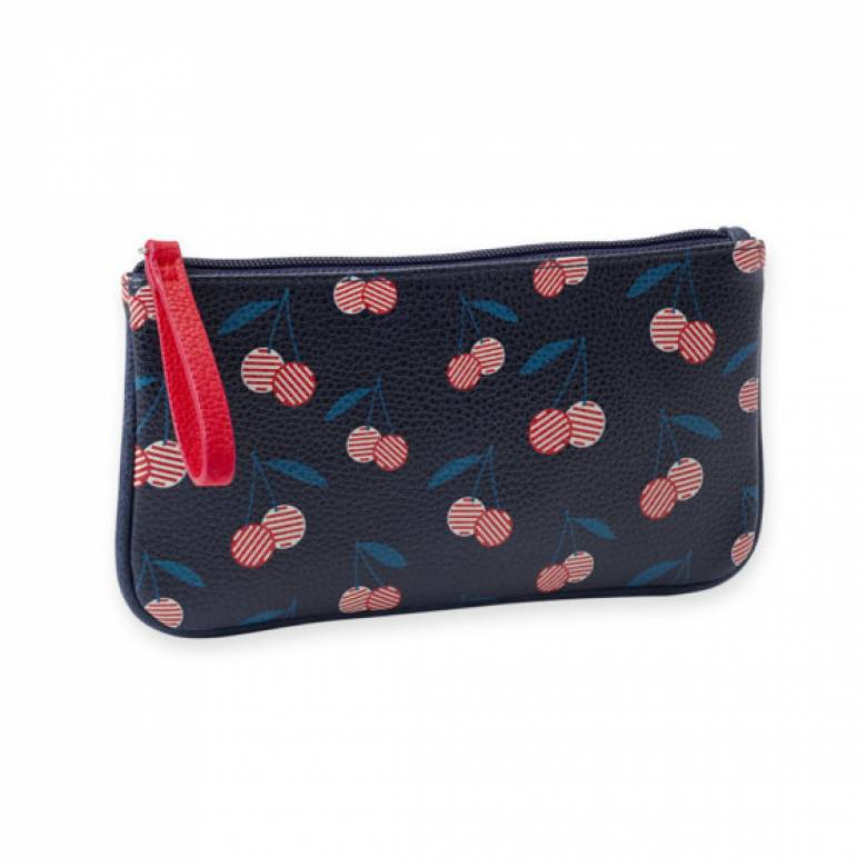 Cherry Print Cosmetic Bag 22x11.5cm