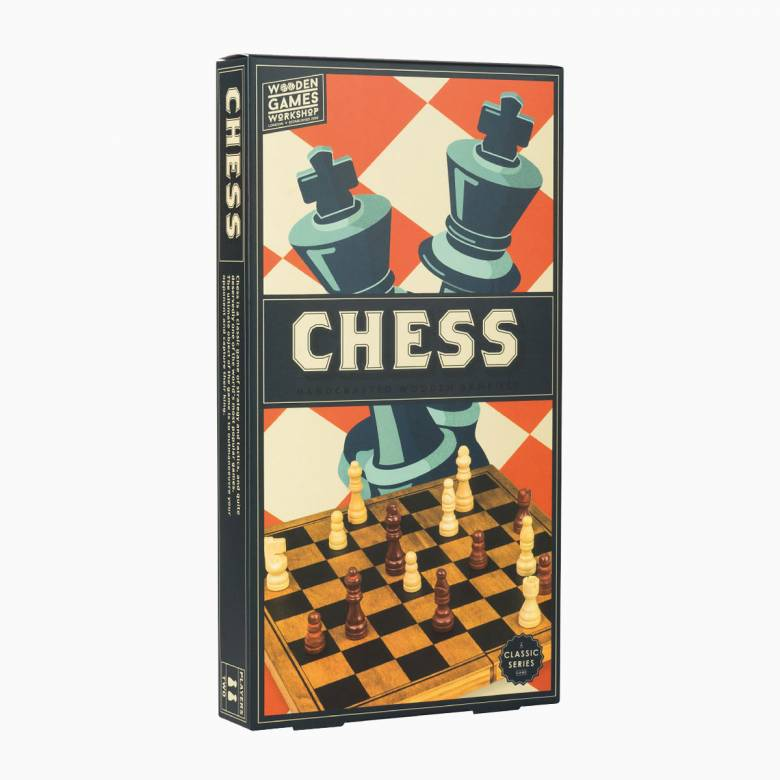 Chess - Handcrafted Wooden Board Game 3+