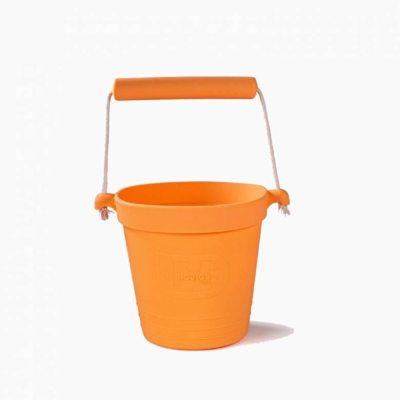 Children's Foldable Bucket In Apricot Orange 18m+