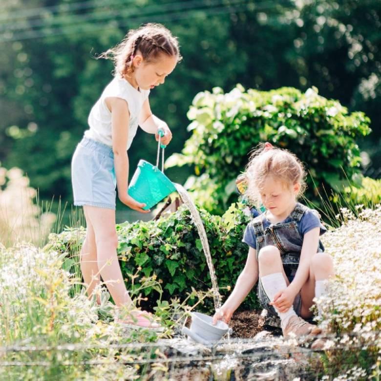 Children's Foldable Bucket In Eggshell Green 18m+
