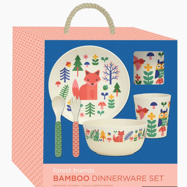 Children's Forest Friends Bamboo Dinnerware Set By Petit Collage