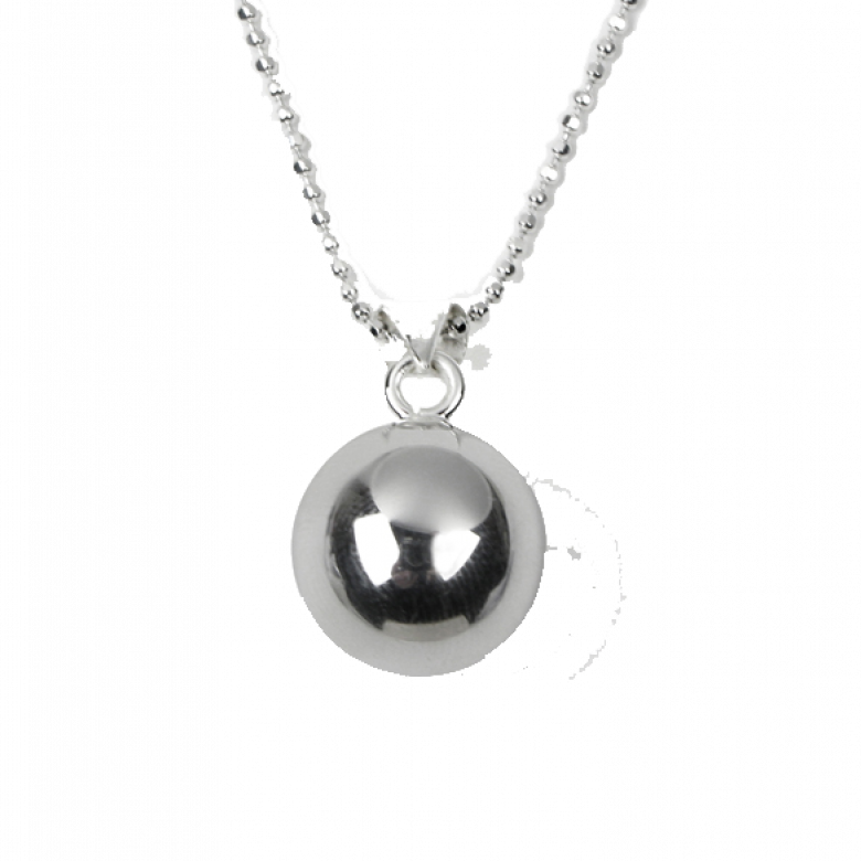 Chiming Ball Silver Plated Necklace