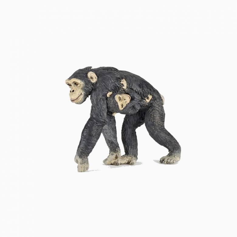 Chimpanzee & Baby - Papo Wild Animal Figure