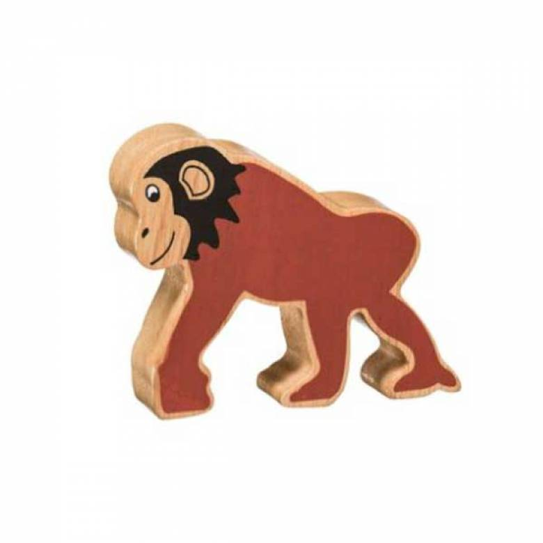 Brown Chimpanzee Wooden PAINTED Animal Fairtrade Lanka Kade