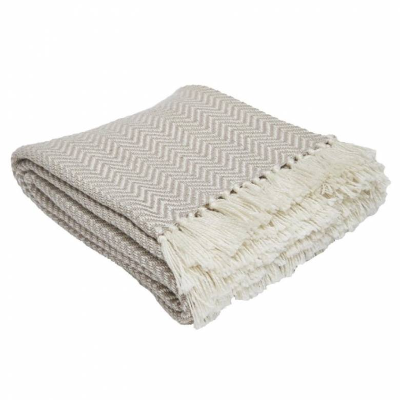 Chinchilla Herringbone Blanket - From Recycled Plastic Bottles
