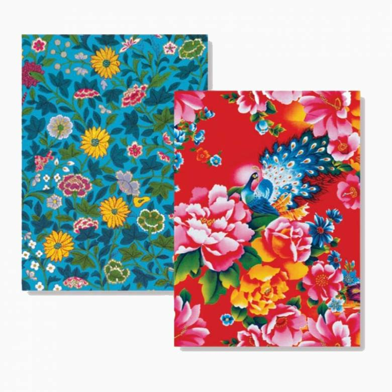 Chinese Florals - Box Of 8 Luxury Foiled Notecards & Envelopes