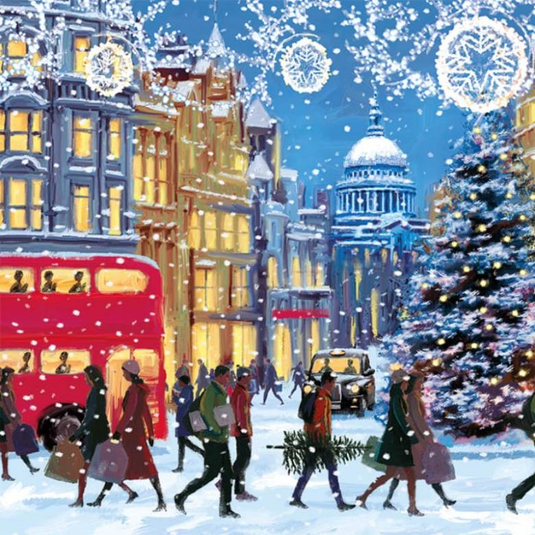 Christmas Eve - Pack Of 5 Christmas Cards By Musems & Galleries